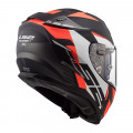 Casco integral LS2 FF327 Challenger Squadron Matt Fluo Orange