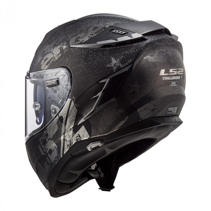 LS2 Casco de Moto FF327 Challenger Flex Matt Noir