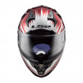 Casco integral LS2 FF327 Challenger Magic Wineberry Black