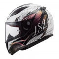 Casco integral LS2 Helmets FF353 RAPID Boho White Black Pink