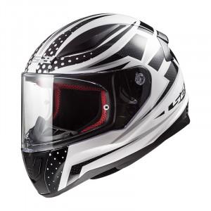 Casco integral LS2 Helmets FF353 RAPID Carborace White Black