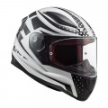 Casco integral LS2 Helmets FF353 RAPID Carborace White Black