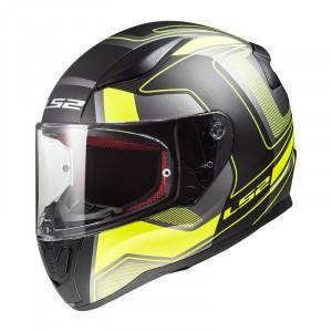 SUPEROFERTA Casco integral LS2 Helmets FF353 RAPID Carrera Matt Black H-V Yellow