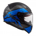 Casco integral LS2 Helmets FF353 RAPID DeadBolt Matt Black Blue