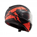 Casco integral LS2 Helmets FF353 RAPID Deadbolt Matt Black Orange