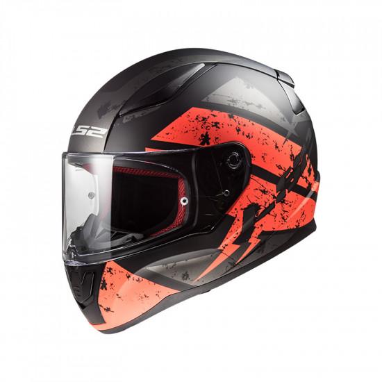 Casco integral LS2 Helmets FF353 RAPID Deadbolt Matt Black Orange