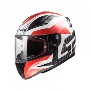Casco integral LS2 Helmets FF353 RAPID Grid White Red