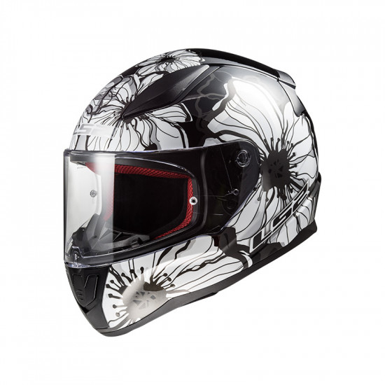 Casco integral LS2 Helmets FF353 RAPID Poppies Black White