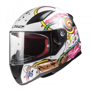 Casco INFANTIL LS2 Helmets FF353J RAPID MINI CRAZY POP White Pink