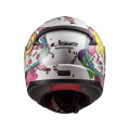 Casco INFANTIL LS2 Helmets FF353J RAPID MINI CRAZY POP White Pink