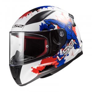 Casco INFANTIL LS2 Helmets FF353J RAPID MINI MONSTER White Blue