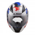Casco INFANTIL LS2 Helmets FF353J RAPID MINI MONSTER White Blue