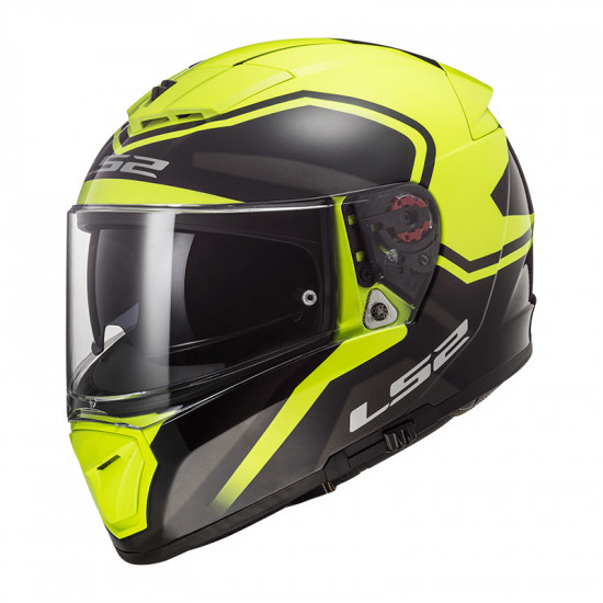 Casco integral LS2 FF390 BREAKER Bold Black H-V Yellow
