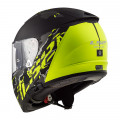 SUPEROFERTA Casco integral LS2 FF390 BREAKER Feline Matt Black H-V Yellow