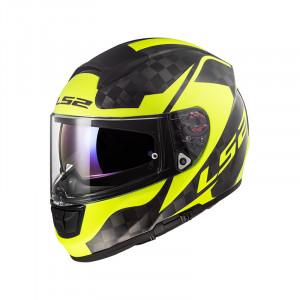Casco integral LS2 Helmets FF397 VECTOR C EVO SHINE Carbon H-V Yellow