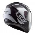 Casco integral LS2 Helmets FF397 VECTOR HPFC EVO WAVY Black Titanium White