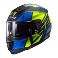 Casco integral LS2 Helmets FF397 VECTOR HPFC EVO Kripton Matt Blue H-V Yellow