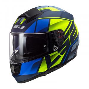 Casco integral LS2 Helmets FF397 VECTOR HPFC EVO Kripton Matt Blue H-V Yellow