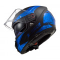 Casco integral LS2 Helmets FF397 VECTOR HPFC EVO SIGN Matt Black Blue