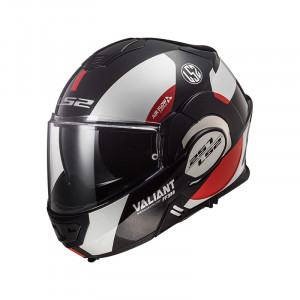 Casco convertible LS2 Helmets FF399 VALIANT AVANT White Black Red