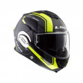 Casco convertible LS2 Helmets FF399 VALIANT LINE Matt Black H-V Yellow