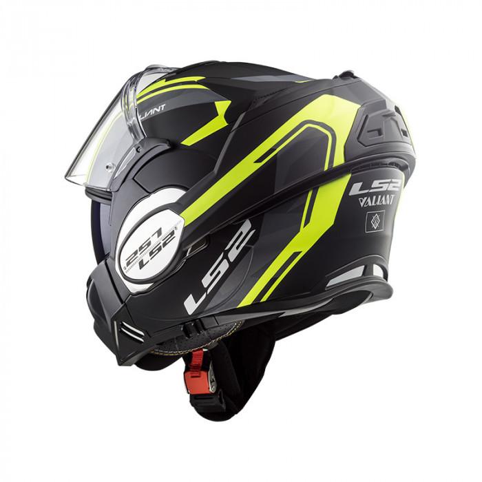 6bcf5ad1cf8db Casco convertible LS2 Helmets FF399 VALIANT LINE Matt Black H-V Yellow