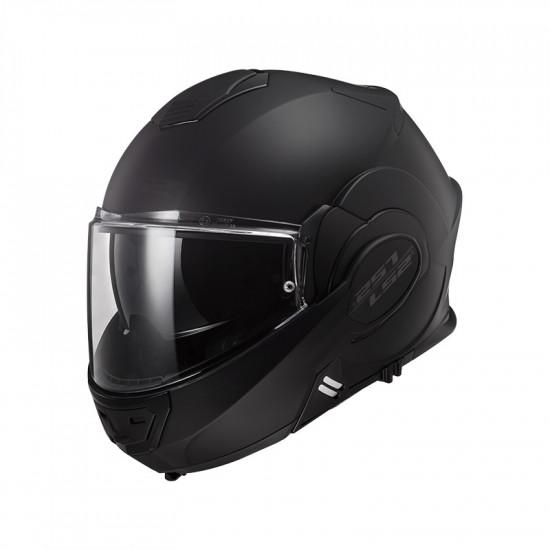 Casco convertible LS2 Helmets FF399 VALIANT NOIR Matt Black + Bolsa portacasco ACERBIS de regalo