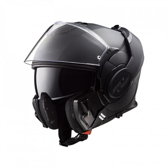 Casco convertible LS2 Helmets FF399 VALIANT NOIR Matt Black + Pantalla ahumada de regalo