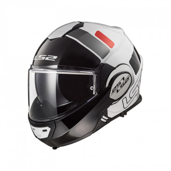 Casco convertible LS2 Helmets FF399 VALIANT PROX White Black Red