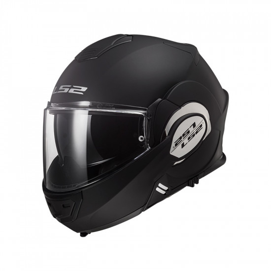 Casco convertible LS2 Helmets FF399 VALIANT SOLID Matt Black