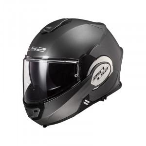 Casco convertible LS2 Helmets FF399 VALIANT SOLID Matt Titanium + Bolsa portacasco ACERBIS de regalo