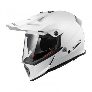 Casco cross/enduro LS2 Helmets MX436 PIONEER SOLID White