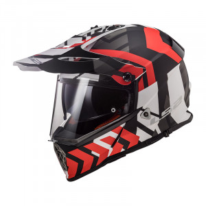Casco cross/enduro LS2 Helmets MX436 PIONEER XTREME Matt Black Red
