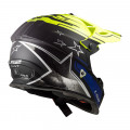 Casco cross/enduro LS2 Helmets MX437 FAST CORE Matt Black HV Yellow