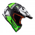 Casco cross/enduro LS2 Helmets MX437 FAST BLOCK Black Green