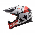 Casco cross/enduro LS2 Helmets MX437 FAST BLOCK White Red