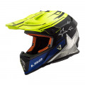SUPEROFERTA Casco cross/enduro LS2 Helmets MX437 FAST CORE Matt Black HV Yellow