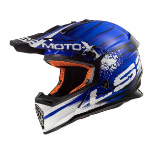 Casco cross/enduro LS2 Helmets MX437 FAST GATOR Blue