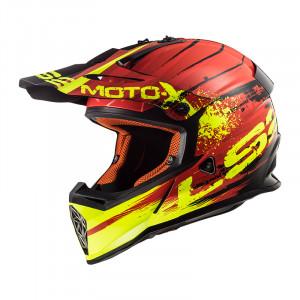 Casco cross/enduro LS2 Helmets MX437 FAST GATOR Red