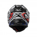 Casco cross/enduro LS2 Helmets MX437 FAST STRONG White Blue Red
