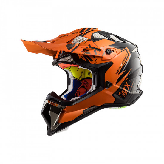 Casco cross/enduro LS2 Helmets MX470 SUBVERTER Emperor Black Orange