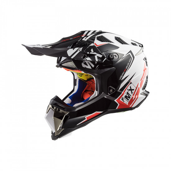 Casco cross/enduro LS2 Helmets MX470 SUBVERTER Emperor Black White Red