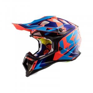 Casco cross/enduro LS2 Helmets MX470 SUBVERTER Nimble Black Blue Orange