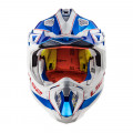 Casco cross/enduro LS2 Helmets MX470 SUBVERTER Power Chrome Blue