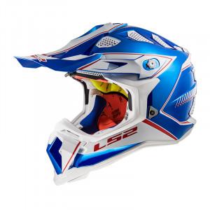 Casco cross/enduro LS2 Helmets MX470 SUBVERTER Power Chrome Blue