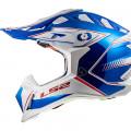 SUPEROFERTA Casco cross/enduro LS2 Helmets MX470 SUBVERTER Power Chrome Blue