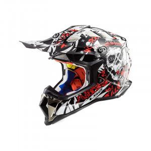 Casco cross/enduro LS2 Helmets MX470 SUBVERTER Voodoo Black White Red