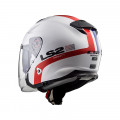 SUPEROFERTA Casco jet LS2 Helmets OF521 INFINITY SMART White Red Blue