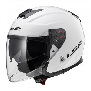 Casco jet LS2 Helmets OF521 INFINITY SOLID White