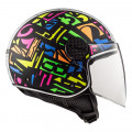 Casco jet LS2 Helmets OF558 SPHERE LUX Crisp Black HV Yellow